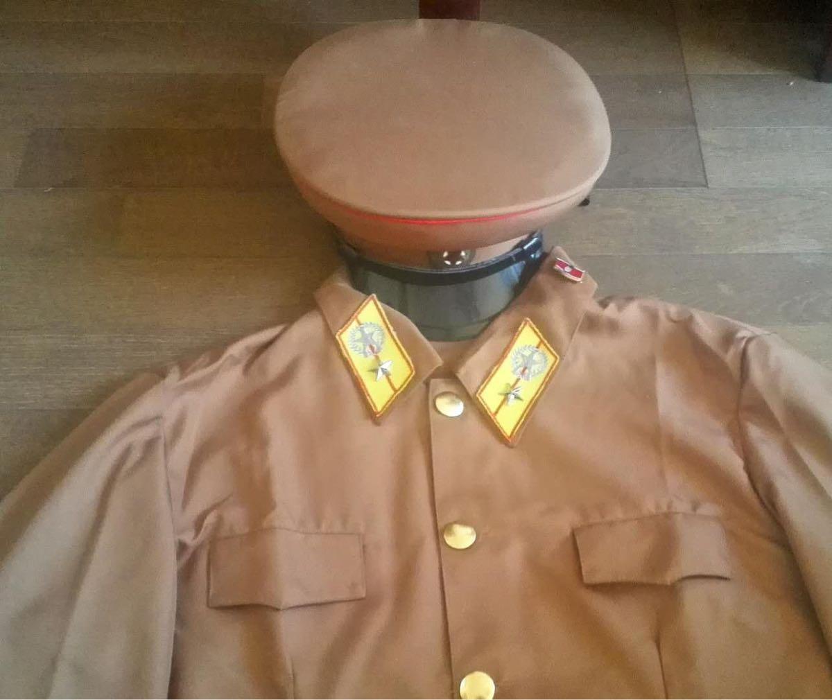 平昌五輪 未使用 北朝鮮人民軍陸軍将校帽 北朝鮮軍軍服制帽_画像2