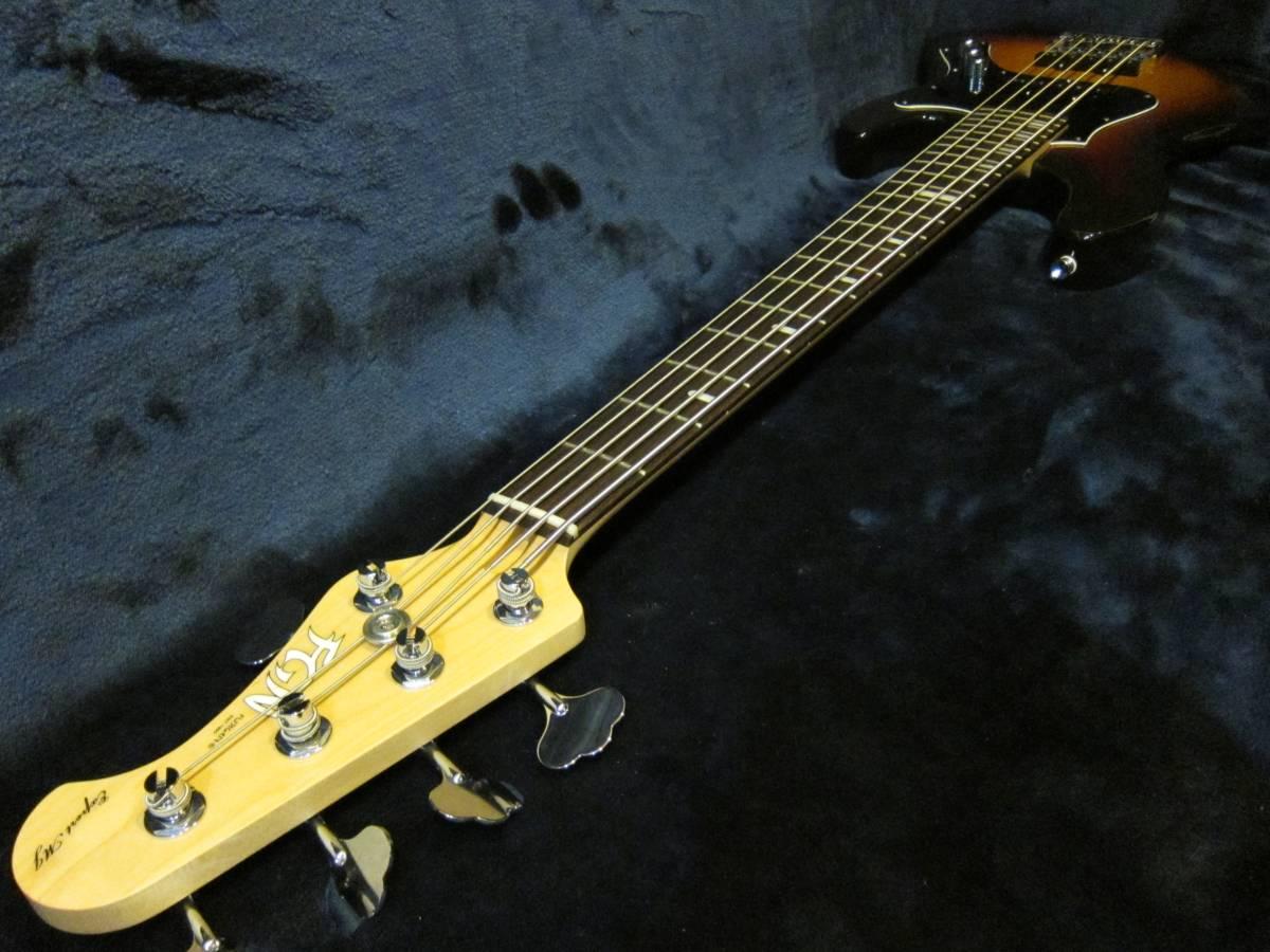 即決☆FgN(Fujigen) Expert Mighty Jazz EMJ5-AL-R☆国内最高峰の5弦モデル♪美品!_画像6