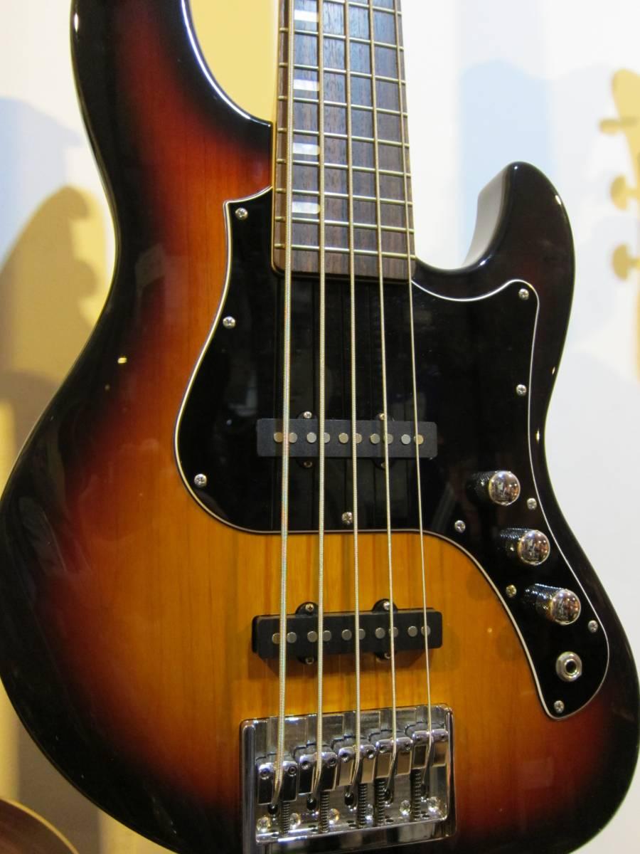 即決☆FgN(Fujigen) Expert Mighty Jazz EMJ5-AL-R☆国内最高峰の5弦モデル♪美品!_画像1