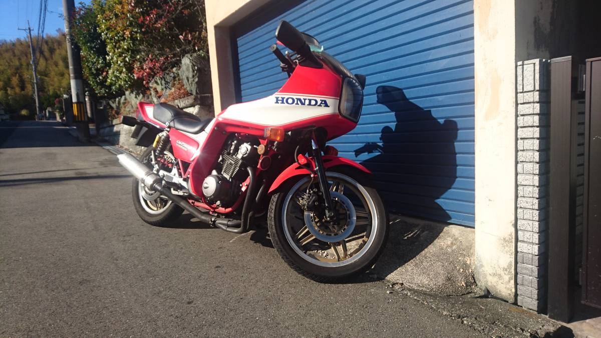 1981年 旧車 ホンダ CB750F ボルドール 改造 多数 ヨシムラ マフラー ウエダレーシング