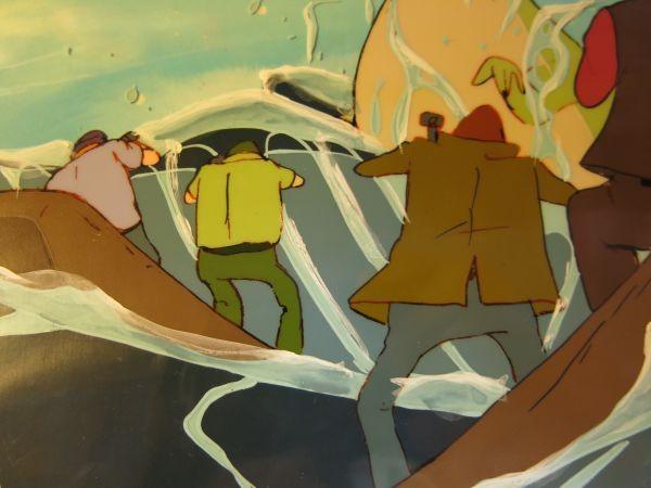 銀河鉄道999 心優しい怪獣へローン 大珍品 第62話 夜のない街 直筆背景付き セル画_画像6