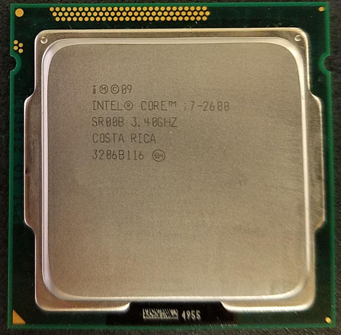 インテル CPU Core i7-2600 3.40GHz 4コア 8M LGA1155 送料込み