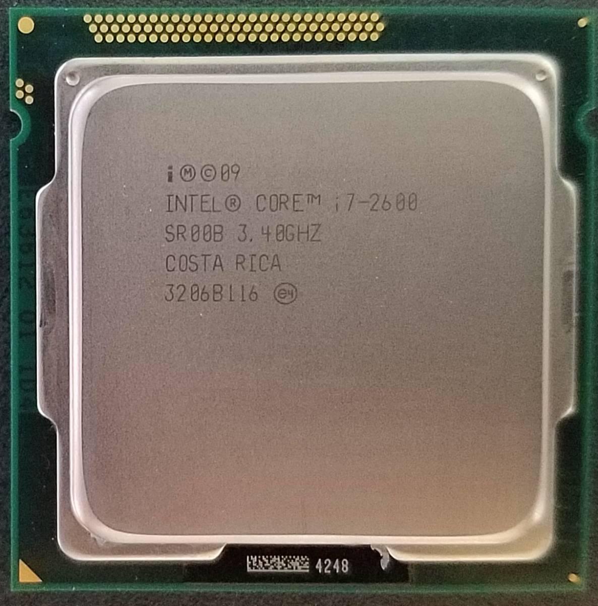 インテル CPU Core i7-2600 3.40GHz 4コア 8M LGA1155 送料無料