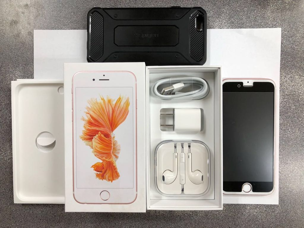 【送料無料・美品】Apple iPhone 6s 128GB DOCOMO ローズゴールド(全揃い・箱有り・おまけケース・保護フィルム付)