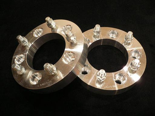 #◆新品 5穴 PCD変換 120.65 → 127 ワイドトレッドスペーサー 厚さ50.8mm 2枚 【M12ピッチ1.5】 管理:350MM145MM_画像1
