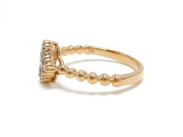 【新品】K18PG D0.45ct ローズカット ダイヤモンドリング ブラウン ダイアモンド指輪 _画像5