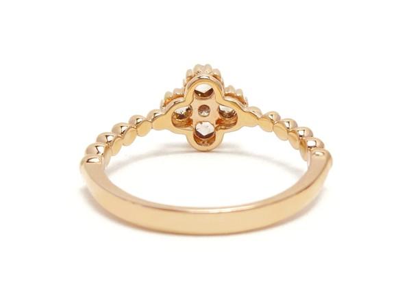 【新品】K18PG D0.45ct ローズカット ダイヤモンドリング ブラウン ダイアモンド指輪 _画像6