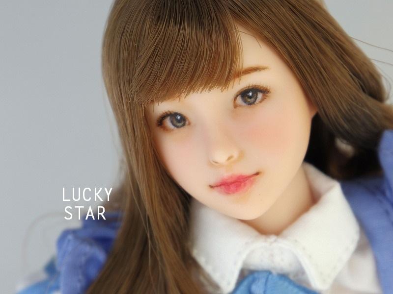 【LUCKY STAR】 1/6カスタムドールヘッド「 真奈美 まなみ 」