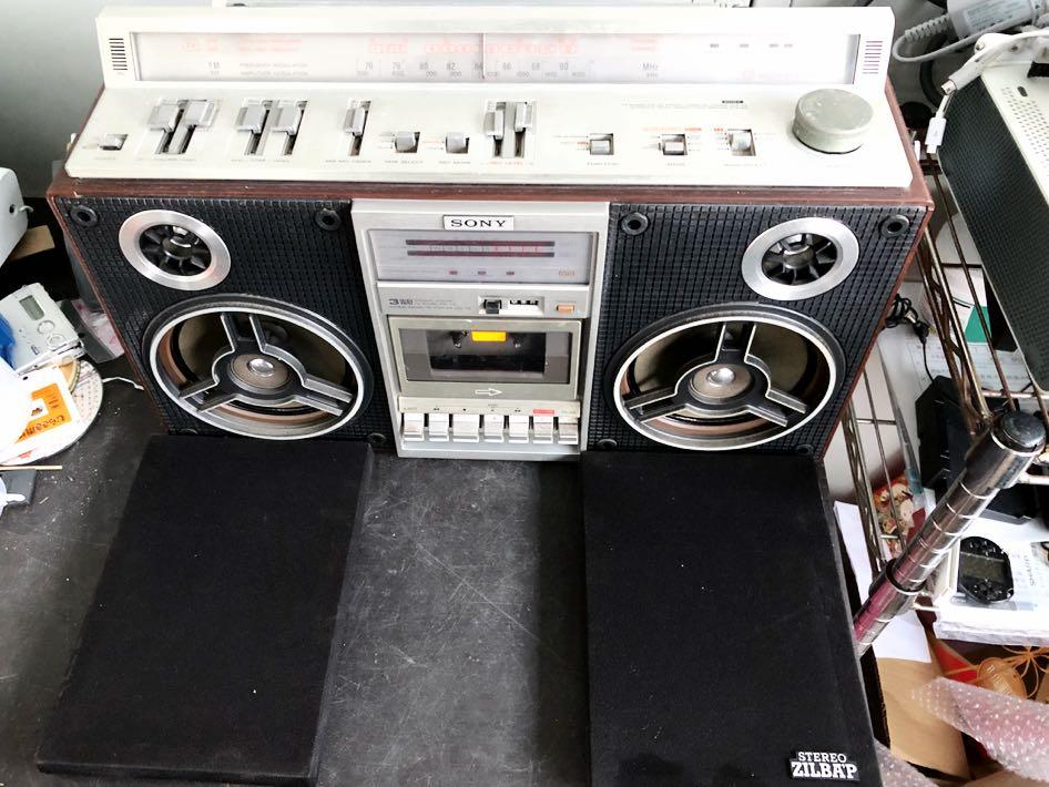 Classic SONY CFS-V8 高級ステレオラジカセ  美品 動作品