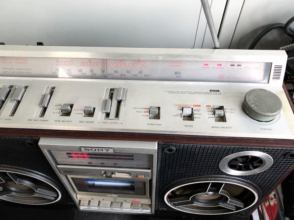 Classic SONY CFS-V8 高級ステレオラジカセ  美品 動作品_画像3