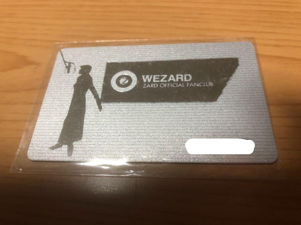 【送料込】ZARD OFFICIAL FAN CLUB WEZARD 会員証