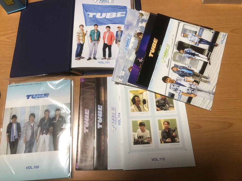 TUBEファンクラブ 「TUBE Riders」会報NO100~120、継続特典グッズ