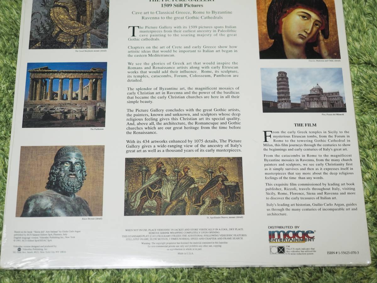 輸入LD・未開封新品♪MASTERPIECES OF ITALIAN ART♪GREEK TO GOTHIC_画像4