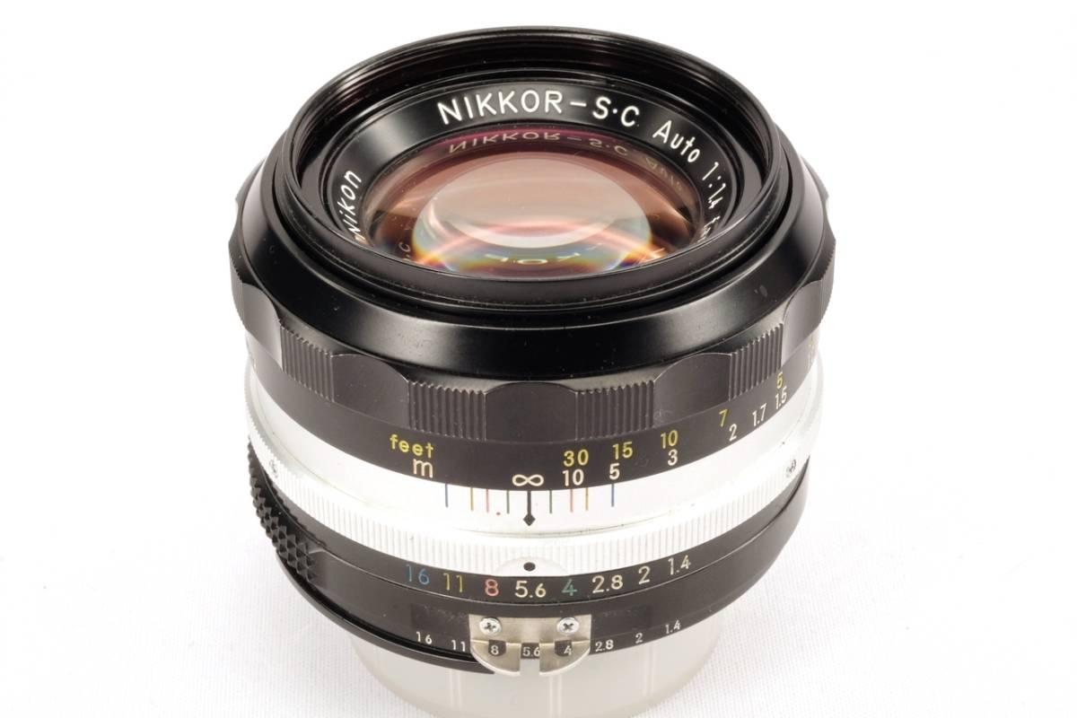 Nikon ニコン Auto Nikkor S C 50mm 1.4 Ai 改造済 中古 実用品 ( F マウント 交換 標準 レンズ Ai