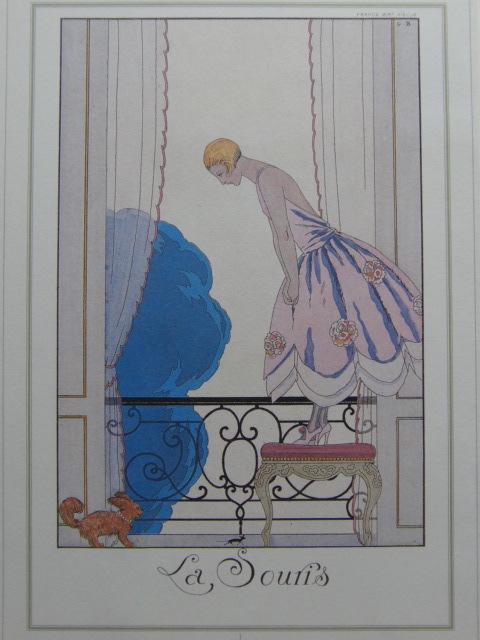 ジョルジュ・バルビエ、希少画集画・特殊紙、新品高級額装付、状態良好、送料無料、インテリア、フランス、アール・デコ、美人画、26、iafa_画像1