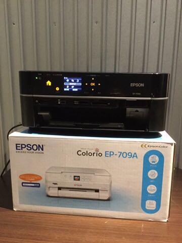 1円~ EPSON エプソン インクジェットプリンター EP-709A 複合機 スキャナー 高画質 無線LAN Wi-Fi 箱付 120サイズ