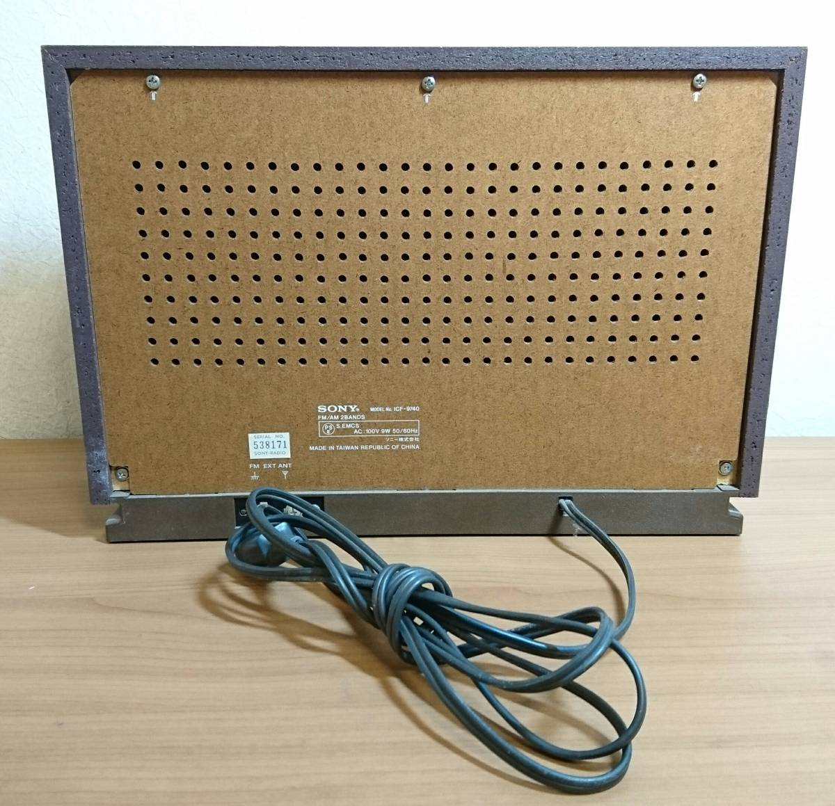 北①23 SONY ソニー ラジオ ICF-9740 AM NHK 受信可 通電確認 アンティーク オーディオ機器 保証なし 状態良好 レトロ ラジオ_画像4