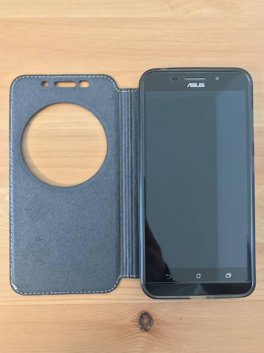★ZenFone Max SIMフリー 黒 ブラック ASUS 保護シール ケース セット 備品あり スマホ ゼンフォーン ★_画像3