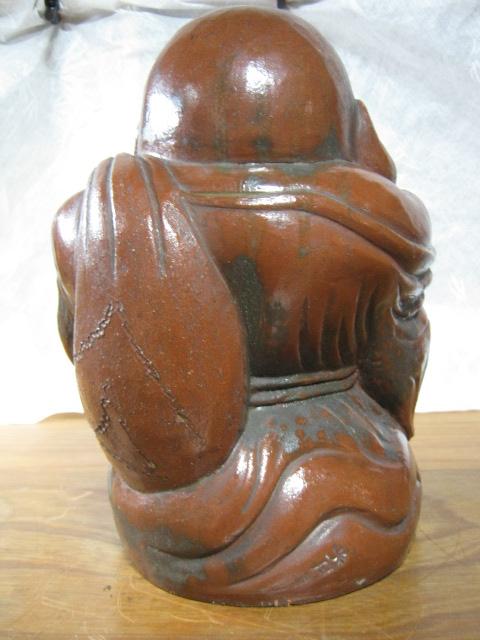 【大サイズ 高さ34cm 陶器製 置物 布袋尊 七福神】antique_画像3