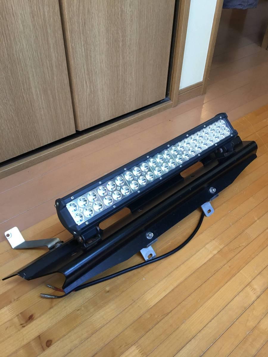 ジムニーJB23Wフロントランプステー+LEDライトバー