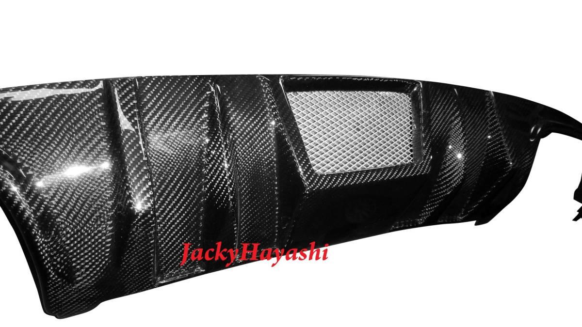 For Mercedes-Benz ベンツ W204 C63 C300 AMG 前期用 F1 スタイルカーボンディフューザー _画像1