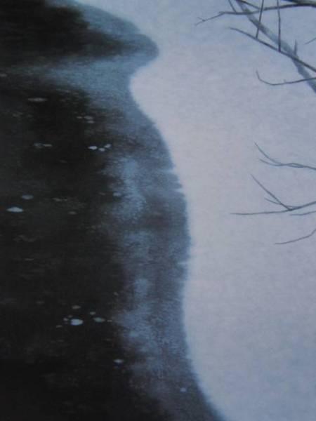 東山 魁夷、凍池、希少な額装用画集より、版上刷サイン入、新品高級額装付、状態良好、送料無料、yoshi211