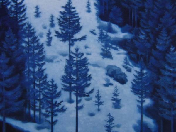 東山 魁夷、雪の後、希少な額装用画集より、版上刷サイン入、新品高級額装付、状態良好、送料無料、yoshi211