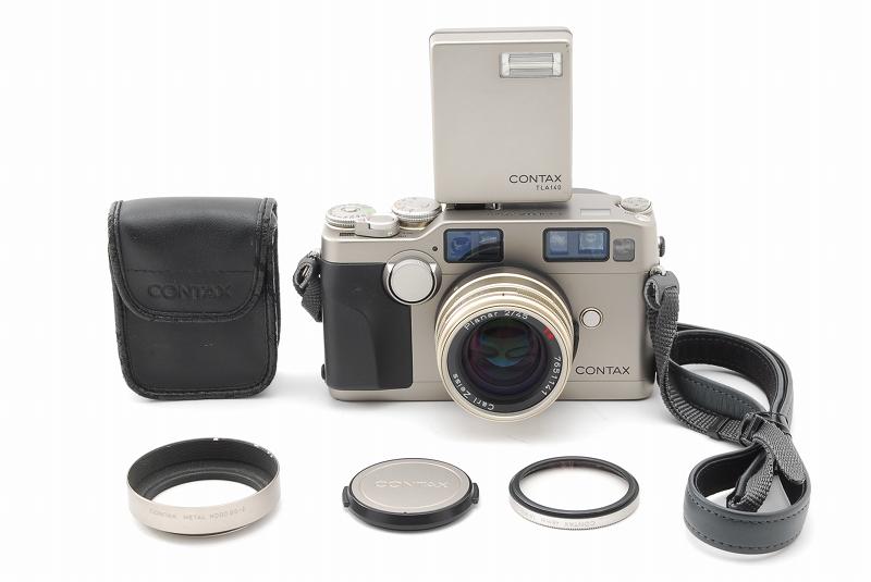 超人気 Contax コンタックス G2 レンジファインダー フィルムカメラ Planar 45mm F2 レンズ TLA140 フラッシュ等 付属品多数_画像2