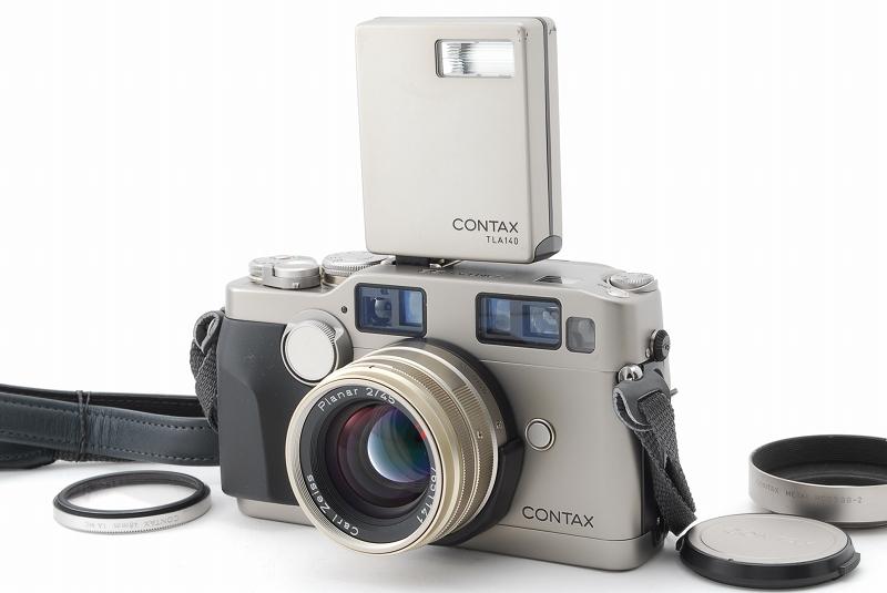 超人気 Contax コンタックス G2 レンジファインダー フィルムカメラ Planar 45mm F2 レンズ TLA140 フラッシュ等 付属品多数