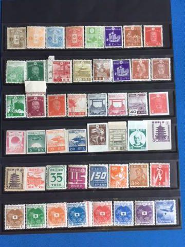 送料込!大正、昭和初期の普通切手、占領地切手、年賀切手48種コレクション!風景切手、第1次昭和切手の大仏も!時代を映す切手をどうぞ!