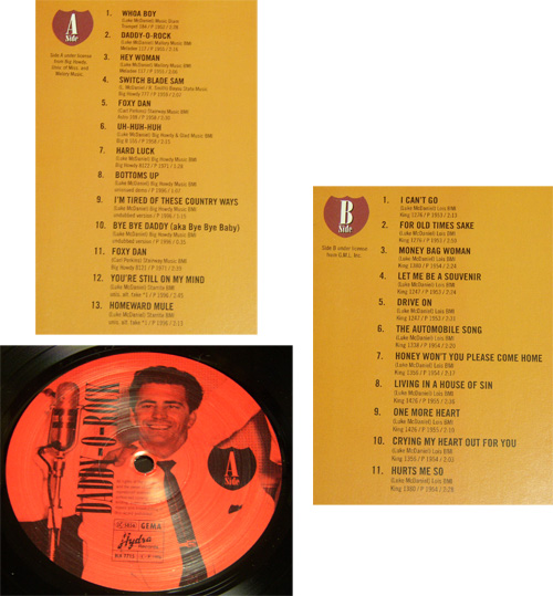 LUKE McDANIEL - DADDY-O-ROCK - LP/ 50's,ロカビリー,WHOA BOY/ SWITCH BLADE SAM/ FOXY DAN/ HARD LUCK/ THE AUTOMOBILE SONG/ HYDRA_画像2
