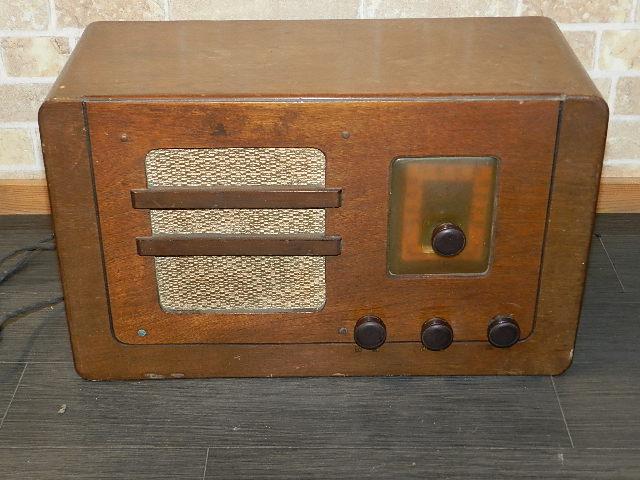 ☆アンティーク・レトロ・ラジオ・シャープ・標準20號変信機・100v・4球ペントードマグネチック・ジャンク
