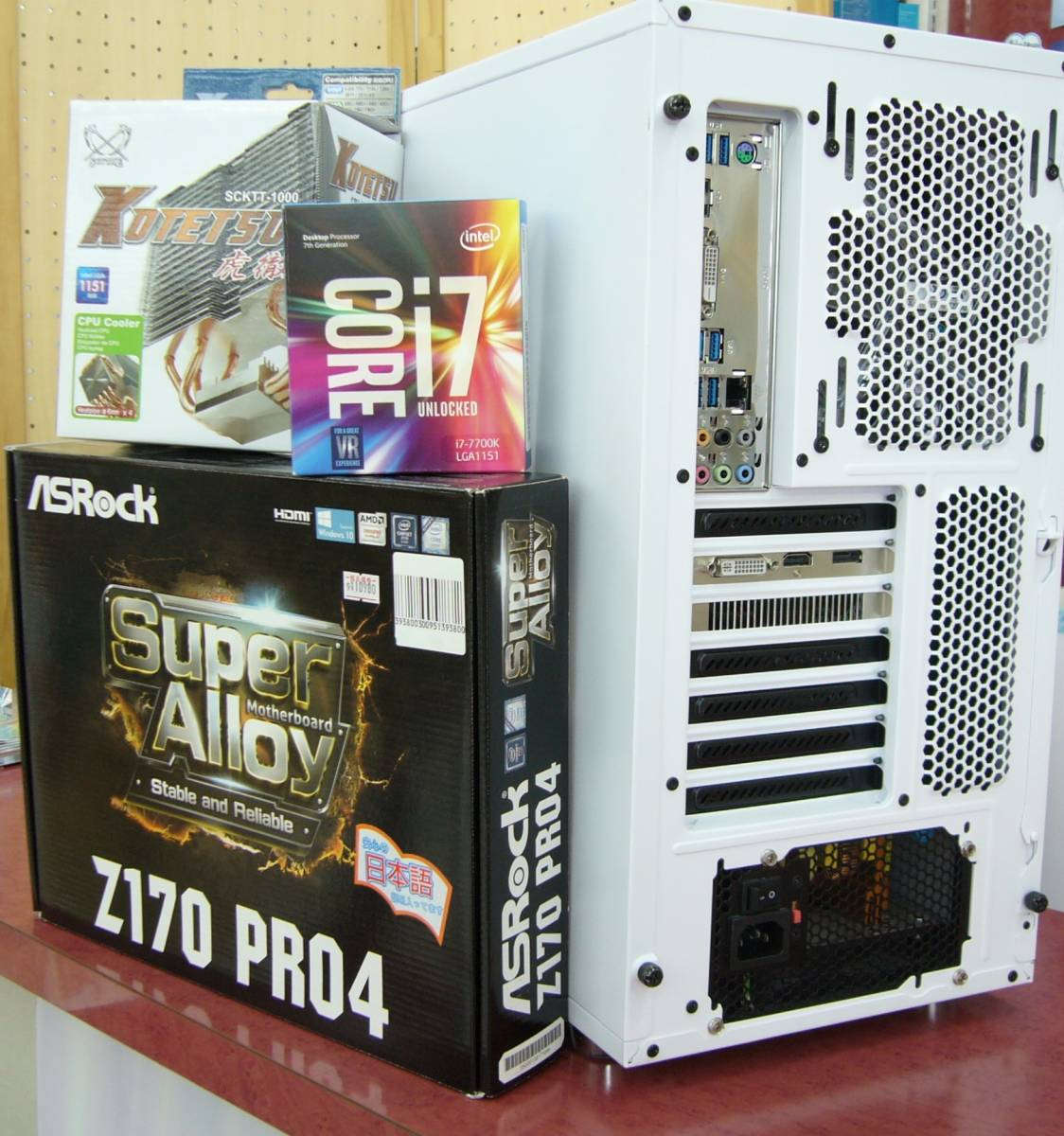 高性能美品◆I7 7700K/Z170/8GB/SSD/750W PLATINUM/Win10◆自作PC