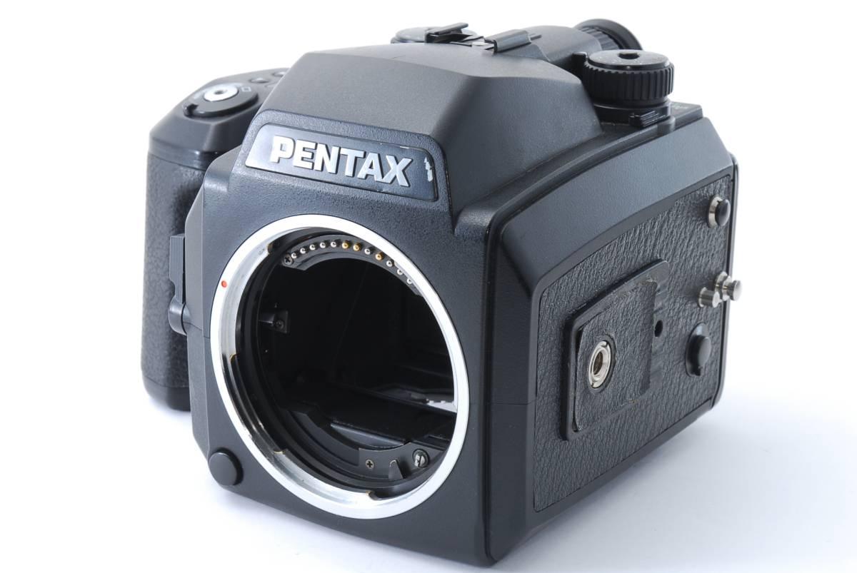 1円スタート!!!!! ペンタックス Pentax 645 Nii Medium Format Camera body ボディ 動作良好、モルト交換済☆