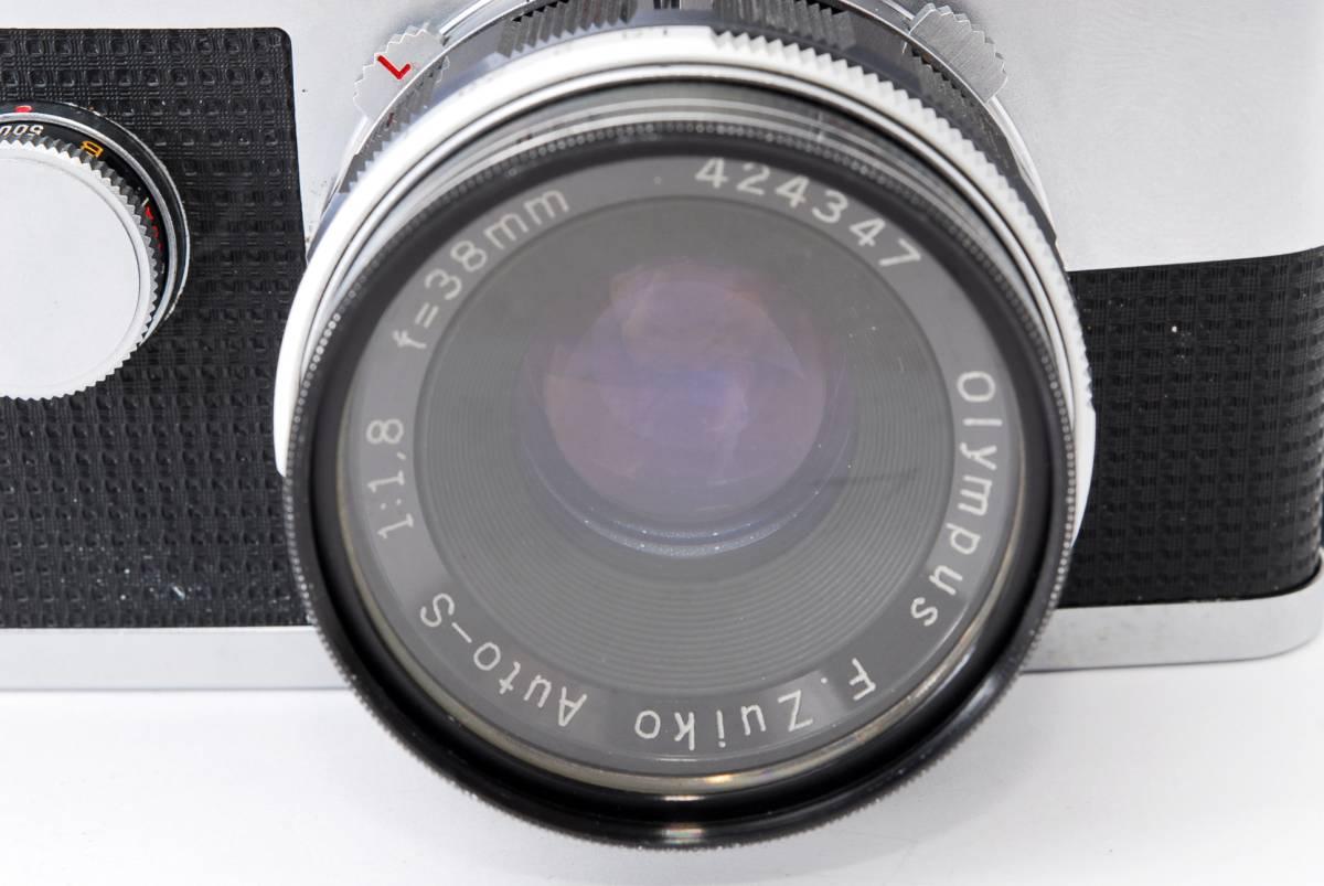 1円スタート レンズとボディのセット オリンパス PEN-FE Olympus Pen-FE レンズ F.Zuiko Auto-S 38mm F1.8 動作良好、モルト交換済☆_画像4