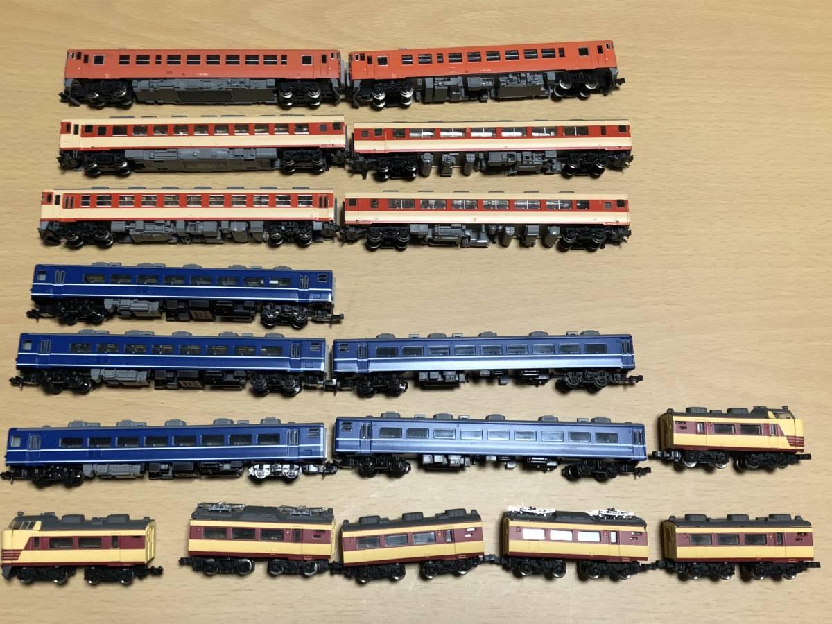ジャンク 現状渡し 17両 キハ58系4両 キハ40系2両 14系客車5両 Bトレインショーティー485系6両 ED79型電気機関車(事故車)