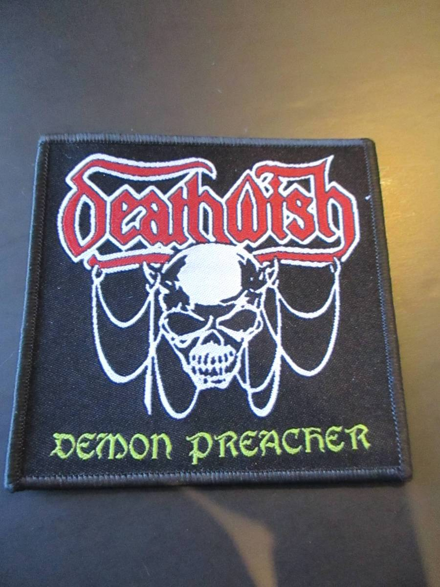 DEATH WISH 刺繍パッチ ワッペン demon preacher / slayer metallica sodom venom bathory kreator destruction