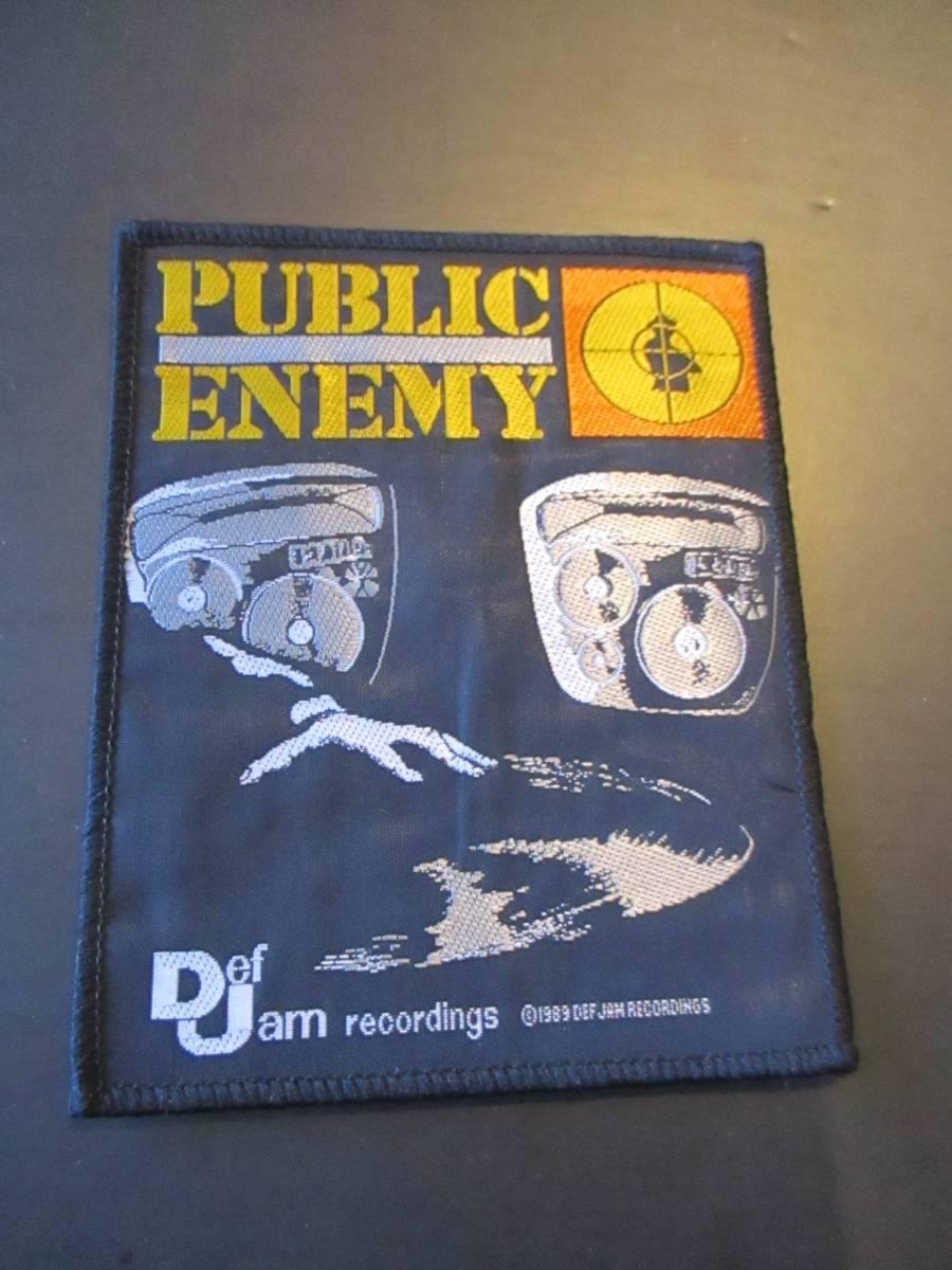 PUBLIC ENEMY 刺繍パッチ ワッペン Def Jam recordings ヴィンテージ デッドストック / beastie boys nwa slayer s.o.d.