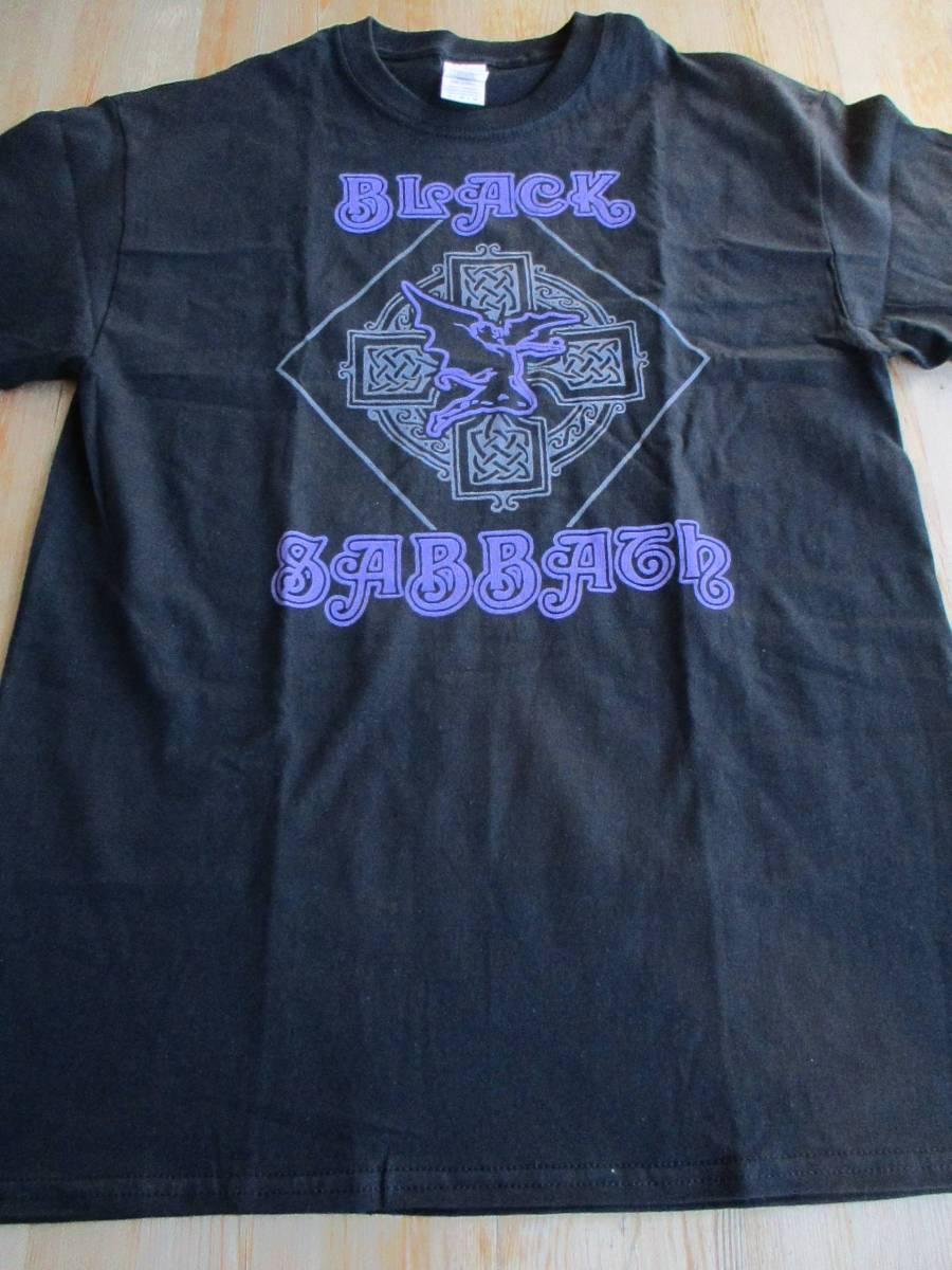 BLACK SABBATH Tシャツ cross purple logo 黒M ブラック・サバス / judas priest scorpions blue oyster cult nazareth Uriah Heep