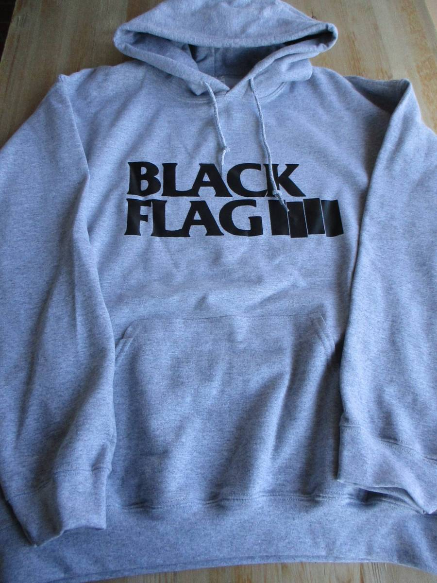BLACK FLAG スウェット パーカー グレーL ブラック・フラッグ / bad brains circle jerks descendents minor threat social distortion
