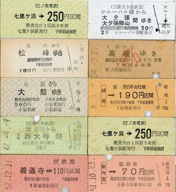 [B16]B型硬券 いろいろ まとめて 20枚_画像2