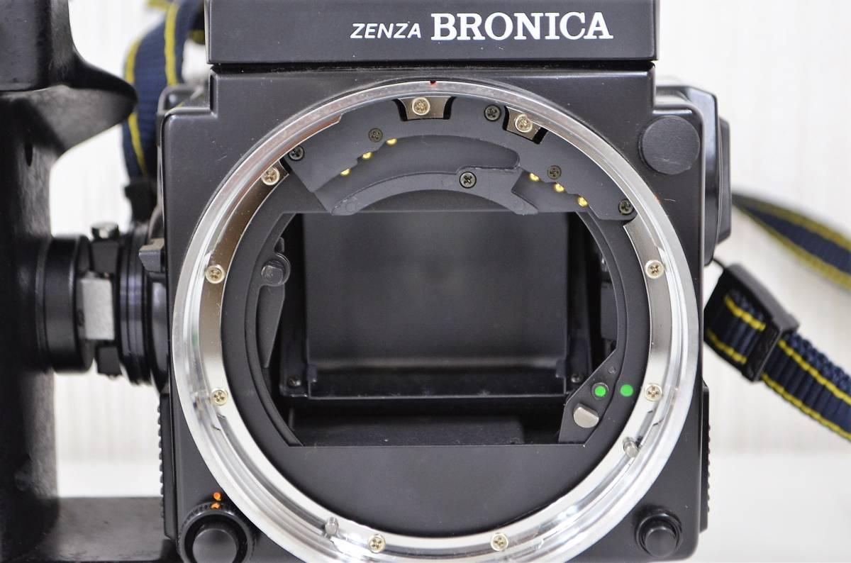 1★ゼンザ ブロニカ ZENZA BRONICA ETR Si フィルムカメラ ZENZANON-PE 1:2.8 f=50mm ジャンク品 1円スタート_画像9