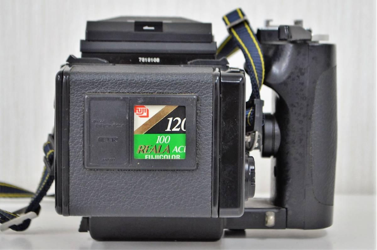 1★ゼンザ ブロニカ ZENZA BRONICA ETR Si フィルムカメラ ZENZANON-PE 1:2.8 f=50mm ジャンク品 1円スタート_画像3