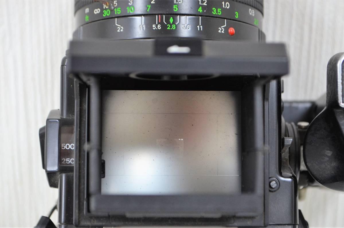 1★ゼンザ ブロニカ ZENZA BRONICA ETR Si フィルムカメラ ZENZANON-PE 1:2.8 f=50mm ジャンク品 1円スタート_画像5