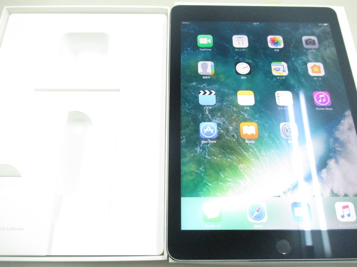 ◆◇1スタ au 判定◯ iPad Air2 WiFi+Cellular 64GB MGHX2J/A スペースグレイ 中古品◇◆