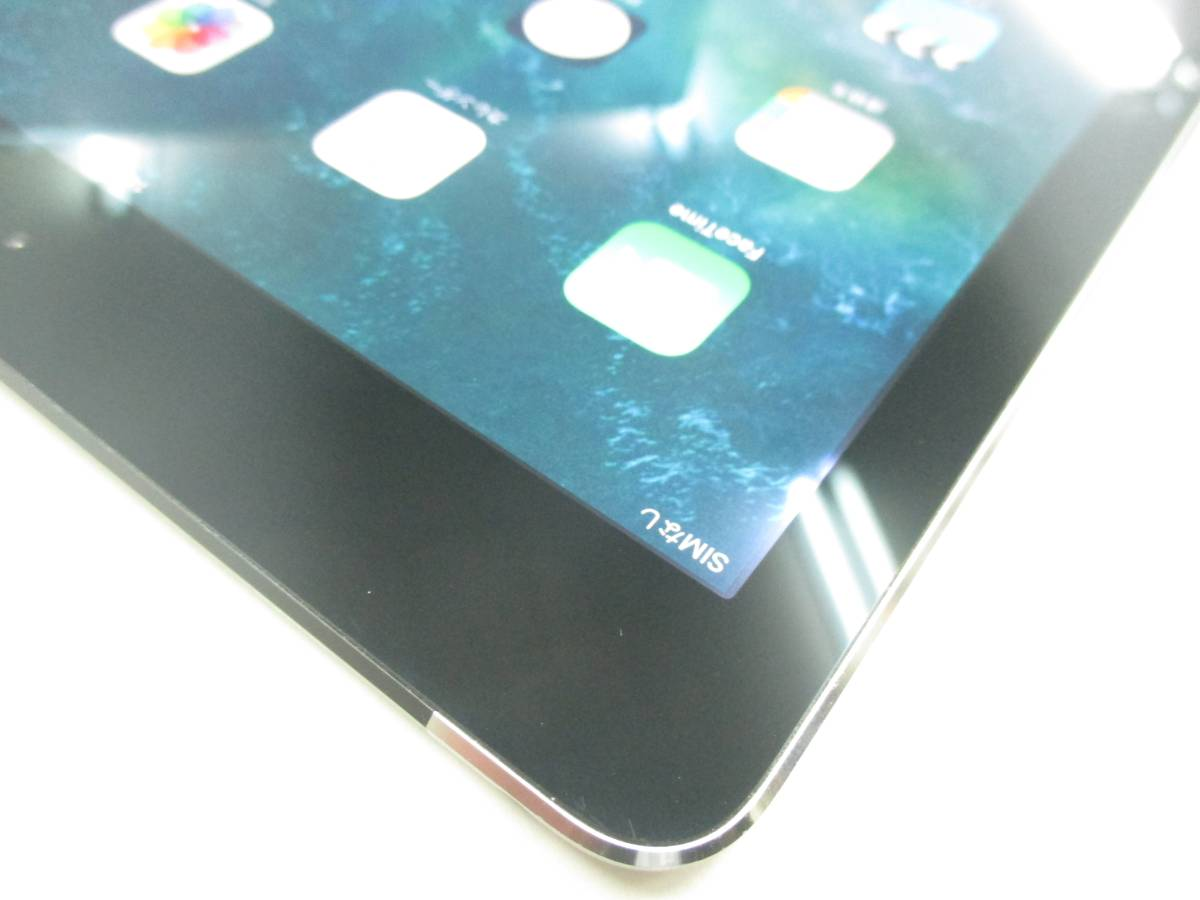 ◆◇1スタ au 判定◯ iPad Air2 WiFi+Cellular 64GB MGHX2J/A スペースグレイ 中古品◇◆_画像4