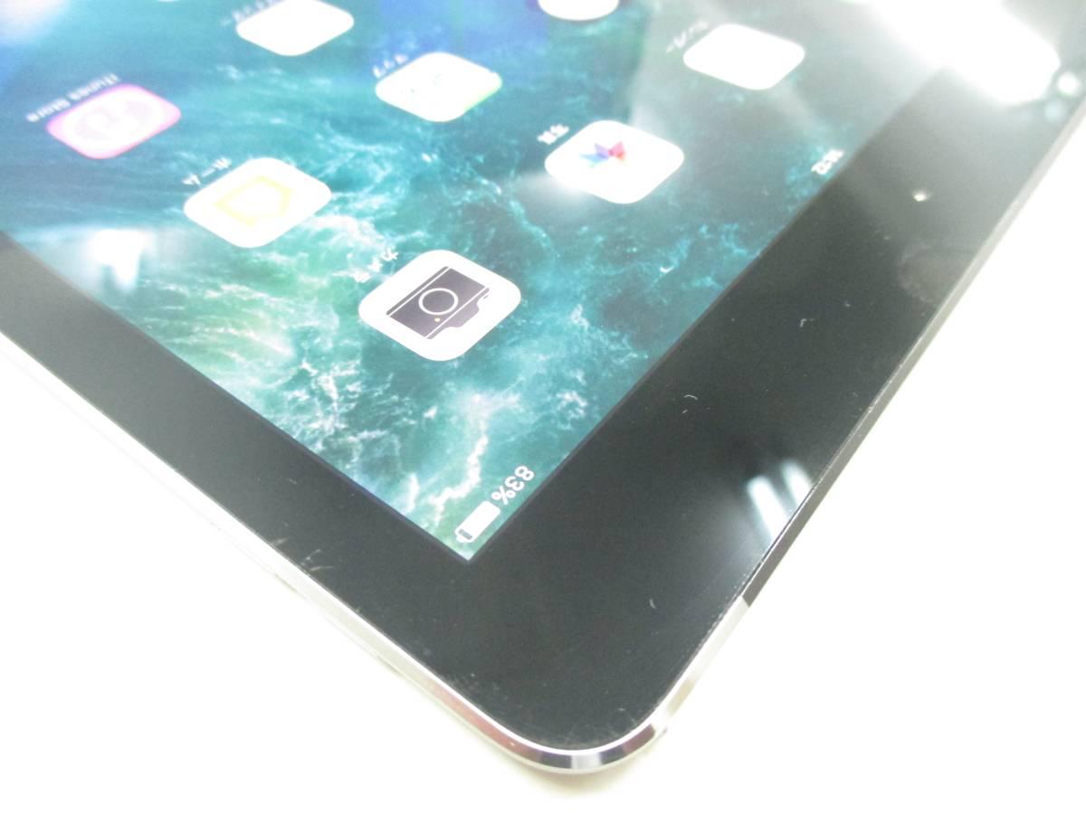 ◆◇1スタ au 判定◯ iPad Air2 WiFi+Cellular 64GB MGHX2J/A スペースグレイ 中古品◇◆_画像5