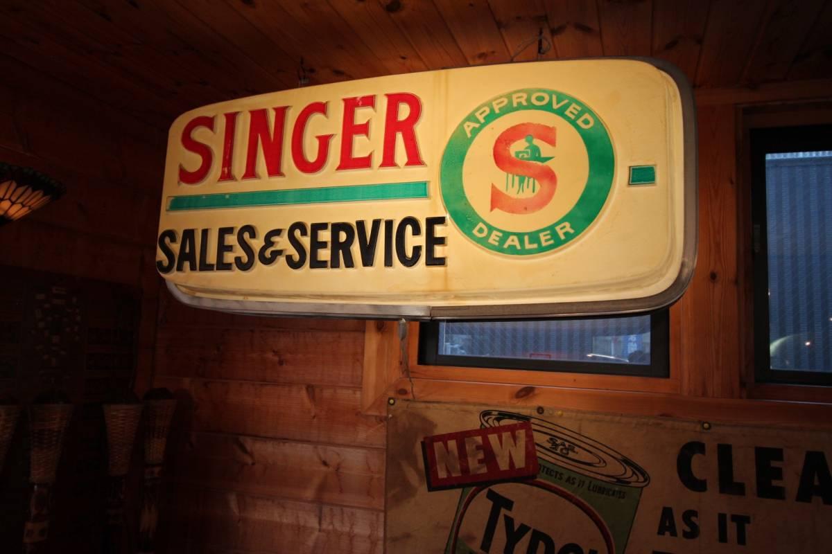 アメリカ製、巨大ディスプレイ、1960年代、SINGERディーラー用サイン!_画像5