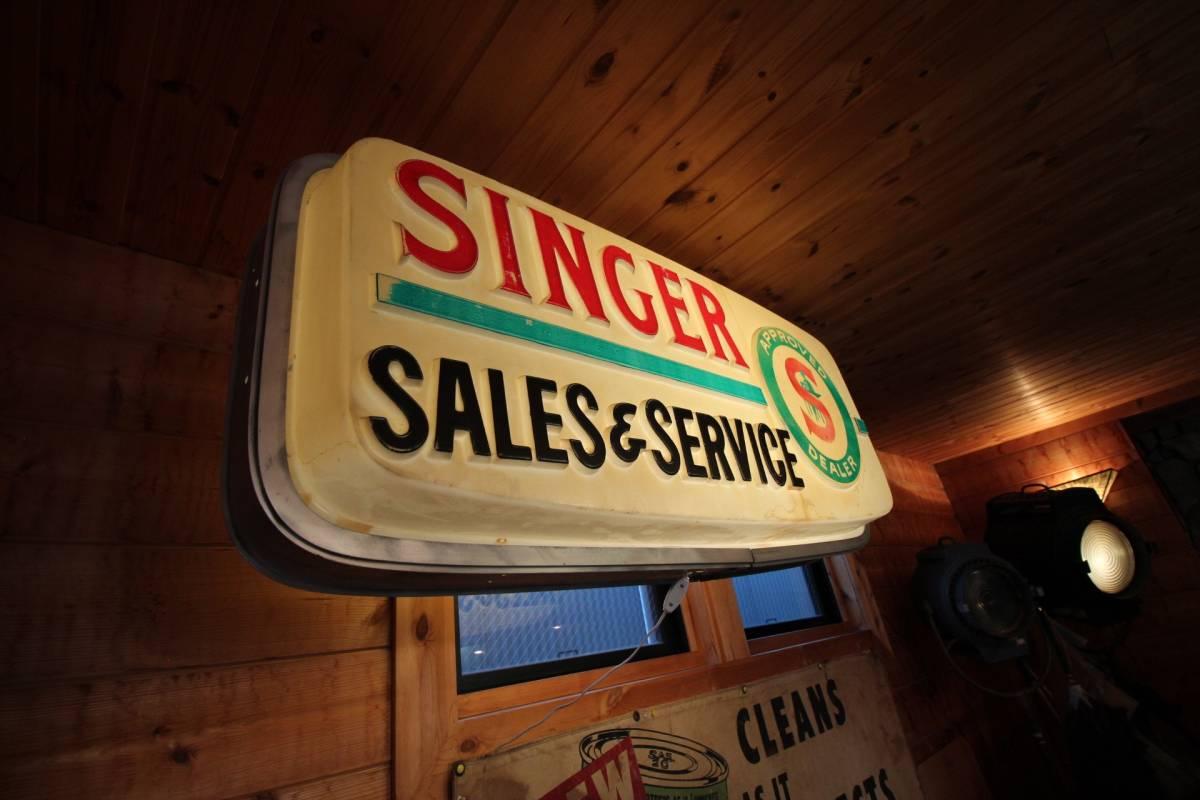 アメリカ製、巨大ディスプレイ、1960年代、SINGERディーラー用サイン!_画像6
