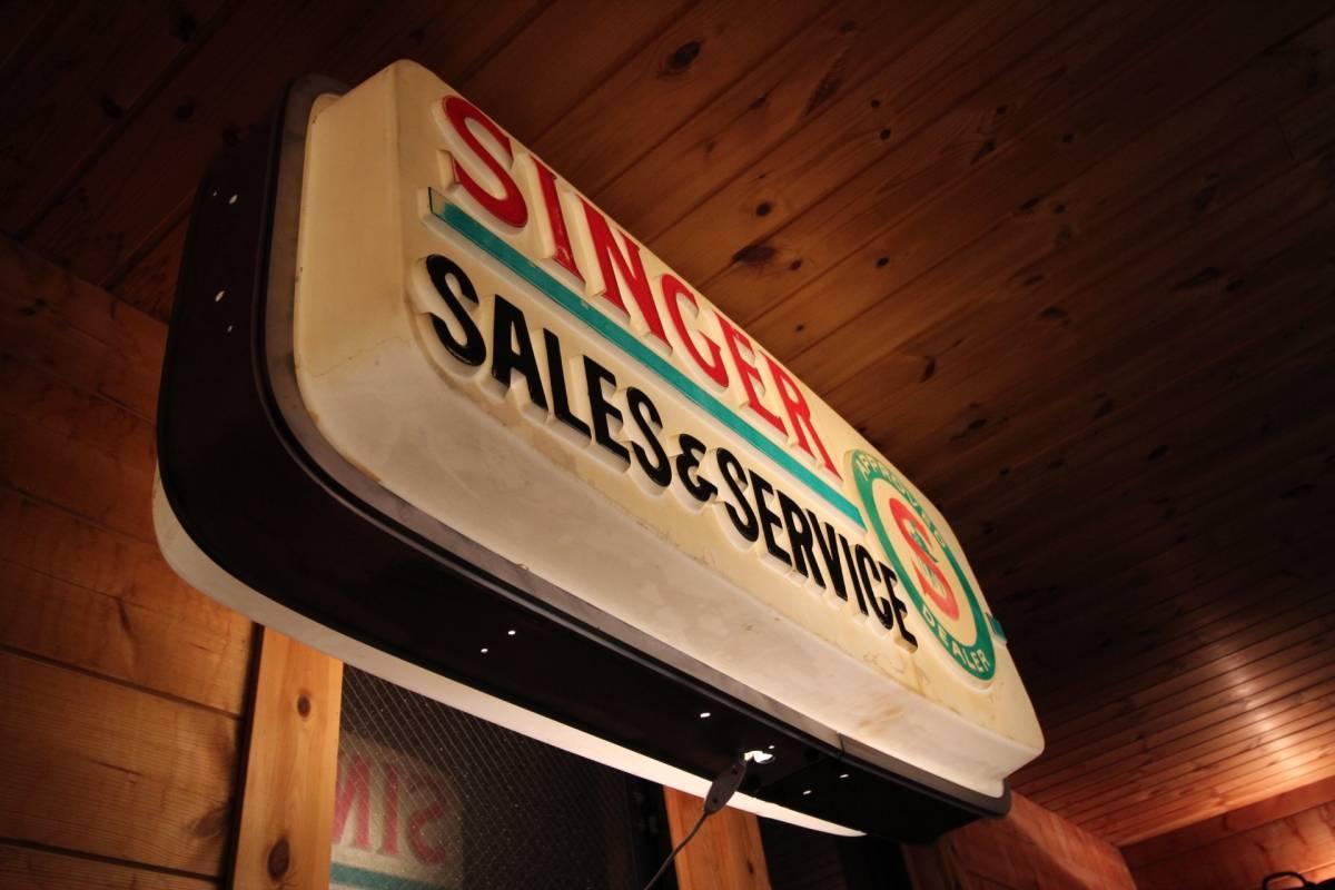 アメリカ製、巨大ディスプレイ、1960年代、SINGERディーラー用サイン!_画像8